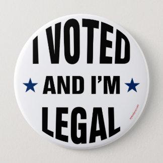 Legal Voter 1 button 4-inch