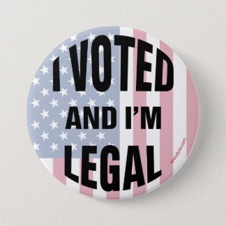 Legal Voter 2 button 3-inch