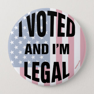 Legal Voter 2 button 4-inch