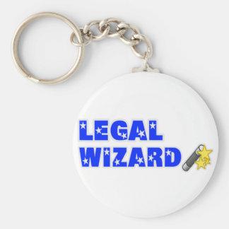 Legal Wizard Basic Round Button Keychain