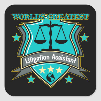 Legal World's Greatest Litigation Assistant Square Sticker