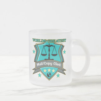 Legal World's Greatest Mail Copy Clerk Frosted Glass Coffee Mug