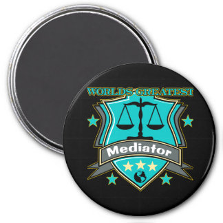 Legal World's Greatest Mediator 3 Inch Round Magnet