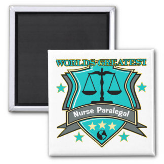 Legal World's Greatest Nurse Paralegal Fridge Magnets