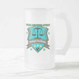 Legal World's Greatest Paralegal Coordinator Frosted Glass Beer Mug