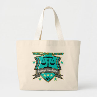 Legal World's Greatest Paralegal Coordinator Large Tote Bag