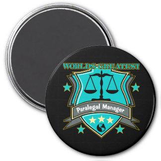 Legal World's Greatest Paralegal Manager Refrigerator Magnets