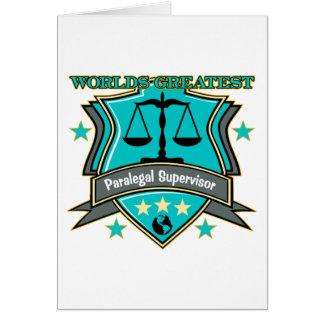 Legal World's Greatest Paralegal Supervisor Card