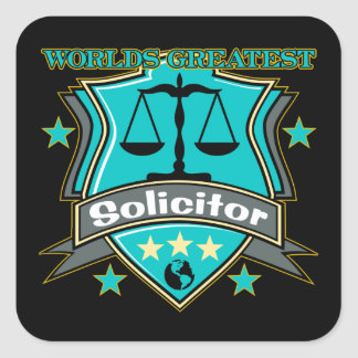 Legal World's Greatest Solicitor Square Sticker