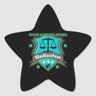 Legal World's Greatest Solicitor Star Sticker