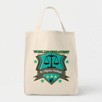 Legal World's Greatest Sr. Litigation Paralegal Tote Bag