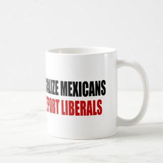 Legalice a los mexicanos deportan a liberales tazas de café