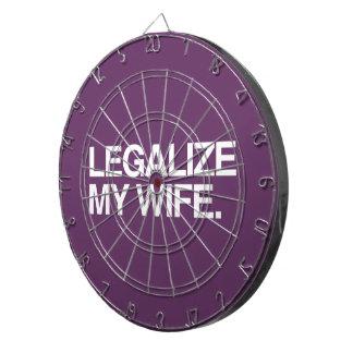LEGALICE A MI ESPOSA - .PNG TABLERO DE DARDOS