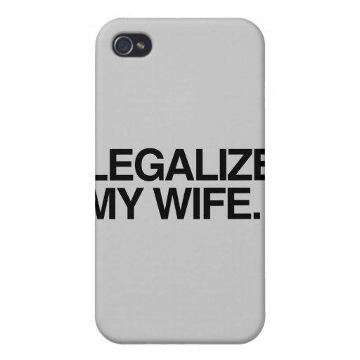 LEGALICE A MI ESPOSA - .PNG iPhone 4/4S CARCASA