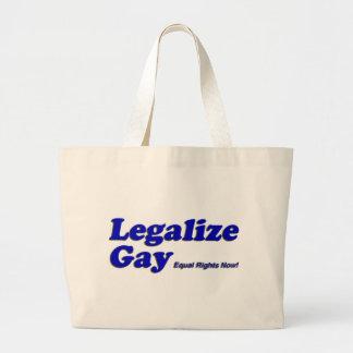 Legalice al gay bolsa tela grande