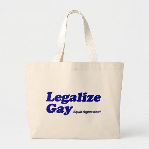 Legalice al gay bolsa lienzo
