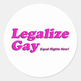 Legalice al gay etiquetas redondas