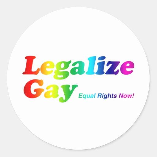 Legalice al gay pegatina redonda