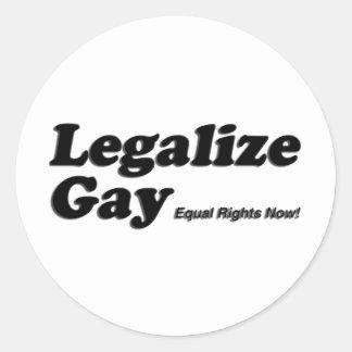 Legalice al gay pegatinas