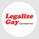 Legalice al gay pegatinas redondas