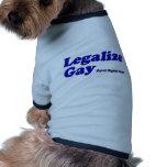 Legalice al gay ropa para mascota