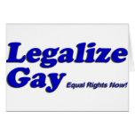 Legalice al gay tarjeta