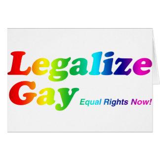 Legalice al gay tarjeta de felicitación