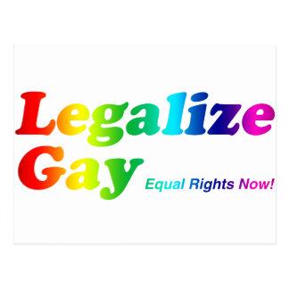 Legalice al gay tarjetas postales