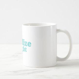 Legalice el azul recto taza