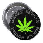 Legalice el botón de la mala hierba pin