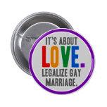 Legalice el botón del matrimonio homosexual pins