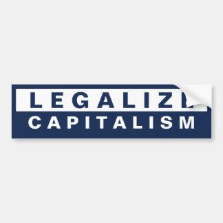 Legalice el capitalismo etiqueta de parachoque