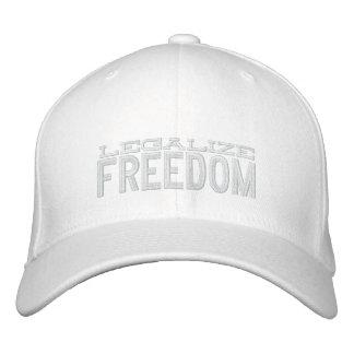 Legalice el gorra bordado libertad gorra de béisbol