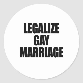 LEGALICE EL MATRIMONIO HOMOSEXUAL ETIQUETA REDONDA