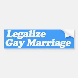 LEGALICE EL MATRIMONIO HOMOSEXUAL - .PNG ETIQUETA DE PARACHOQUE