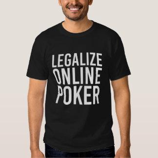 Legalice el póker en línea playeras