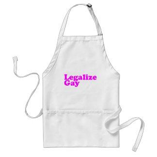 Legalice el rosa del gay delantal