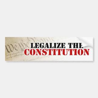 Legalice la constitución pegatina de parachoque