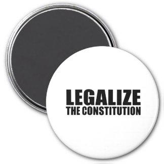 Legalice la constitución imán redondo 7 cm