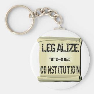 Legalice la constitución llavero redondo tipo pin