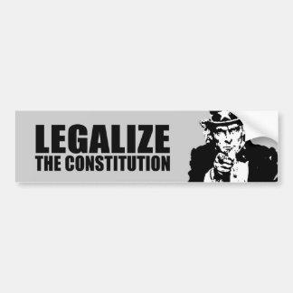 Legalice la constitución pegatina para auto