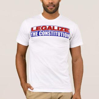 ¡Legalice la constitución! Playera