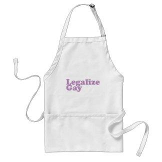 legalice la lavanda gay delantal