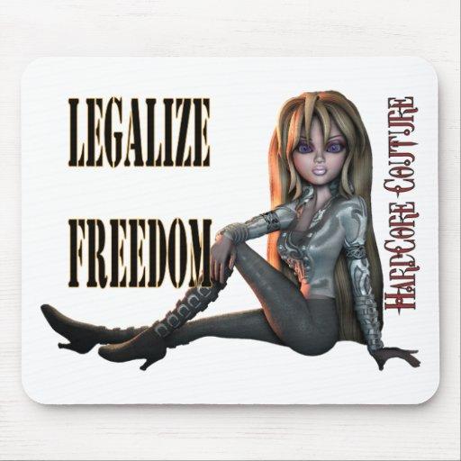 legalice la libertad 2 alfombrillas de ratón