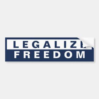Legalice la libertad etiqueta de parachoque