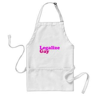 legalice la magenta rosada gay delantal