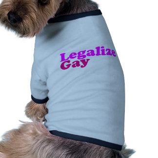 legalice la magenta rosada gay ropa macota