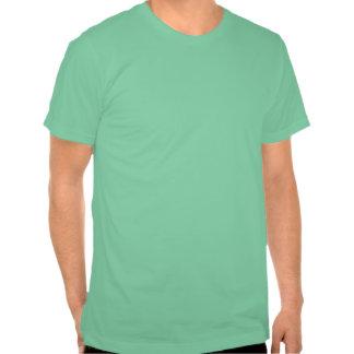 legalice la menta recta del negro n camisetas