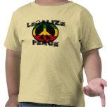 Legalice la paz camisetas