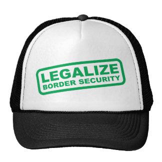 Legalice la seguridad de fronteras gorros bordados